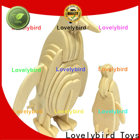 Lovelybird Toys custom wooden 3d animal puzzles factory for kids