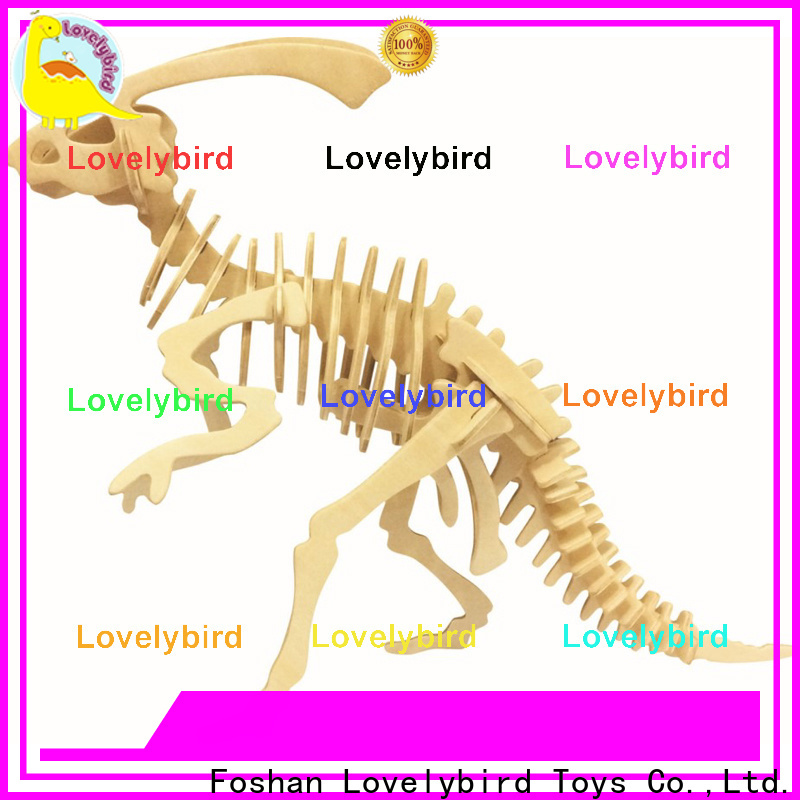 Lovelybird Toys 3d wooden animal puzzle suppliers for entertainment
