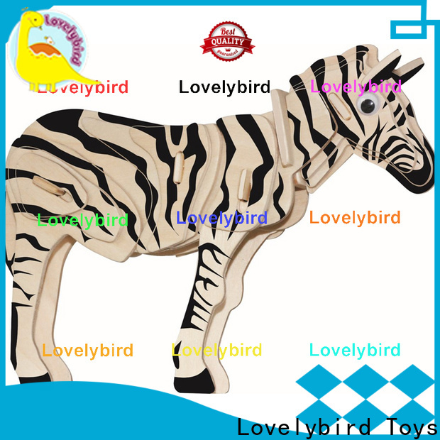 Lovelybird Toys custom 3d wooden puzzle animals supply for kids