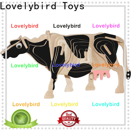 fast delivery wooden 3d animal puzzles supply for entertainment