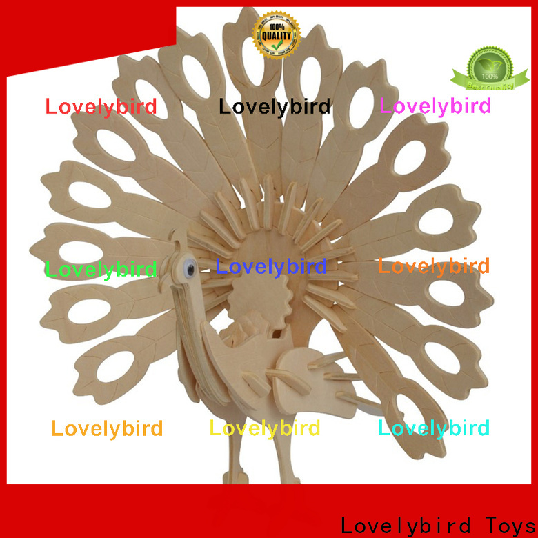 custom 3d wooden puzzle animals manufacturers for business