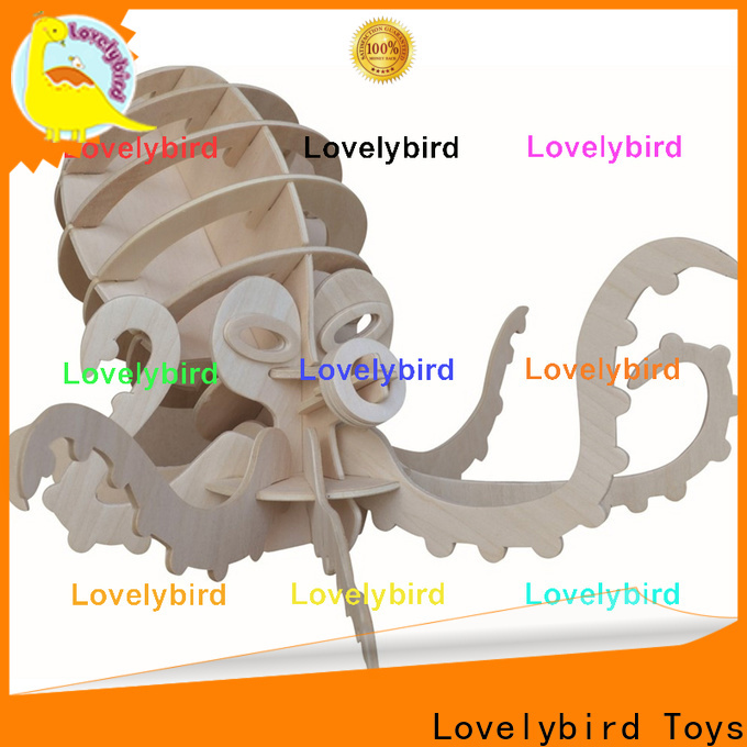 Lovelybird Toys top 3d wooden animal puzzle factory for sale