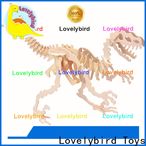 Lovelybird Toys fast delivery 3d wooden puzzle animals supply for sale