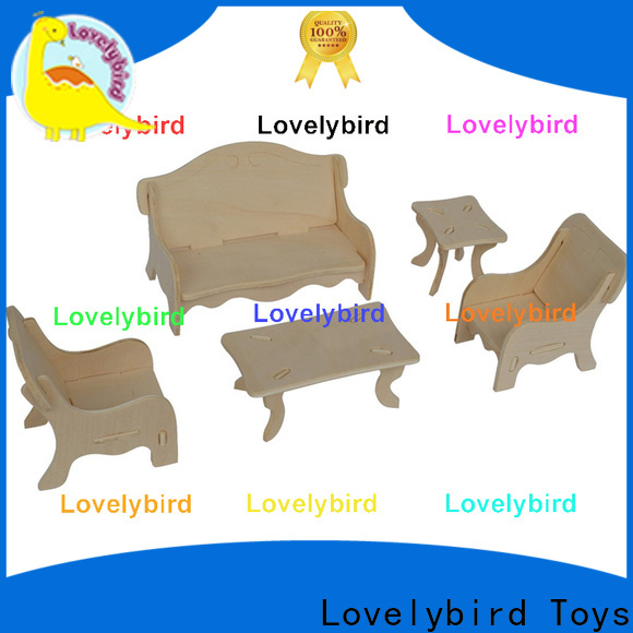 Lovelybird Toys custom 3d puzzle furniture supply for game
