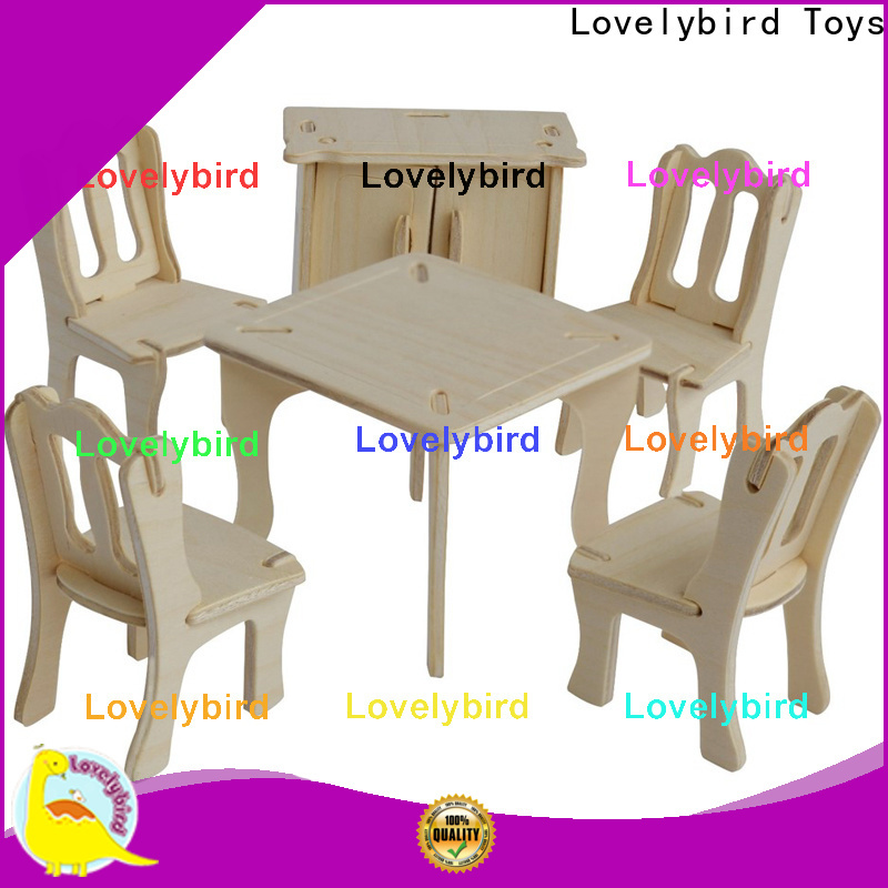 Lovelybird Toys 3d wooden puzzle dollhouse furniture company for business