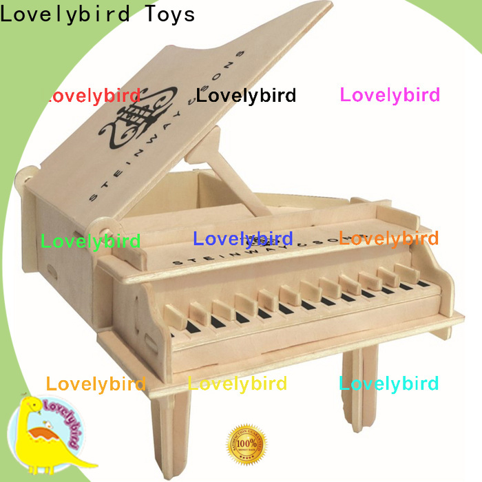 Lovelybird Toys high-quality 3d wooden puzzle dollhouse furniture supply for entertainment