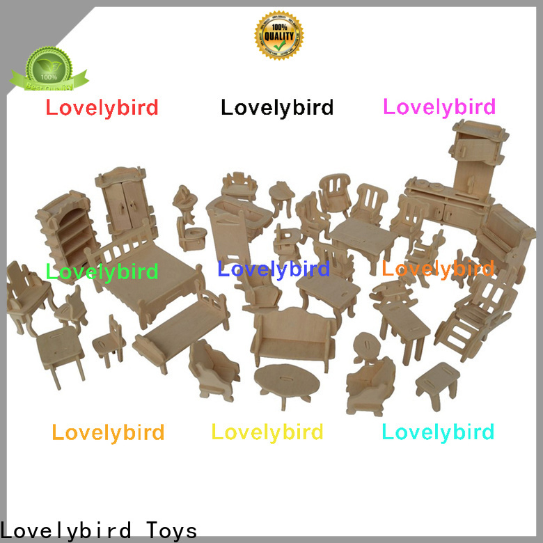 Lovelybird Toys latest 3d wooden puzzle dollhouse furniture company for sale
