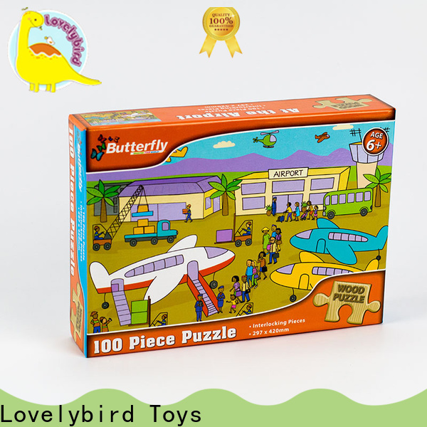 Lovelybird Toys custom wooden puzzles for adults with frame for activities