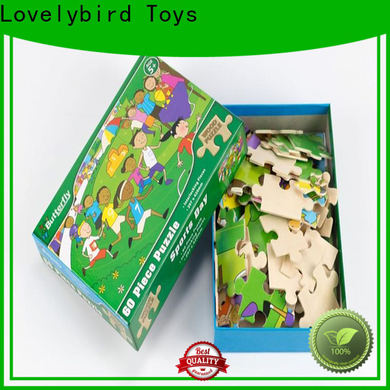 lovely wooden puzzles with frame for kids