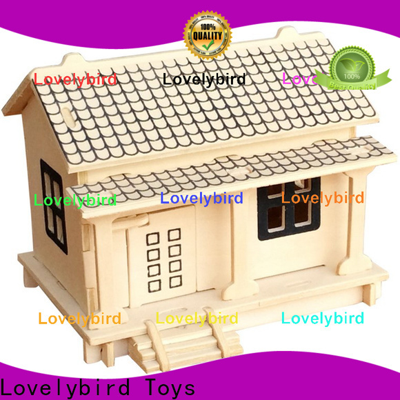 Lovelybird Toys 3d wooden puzzle house suppliers for adults