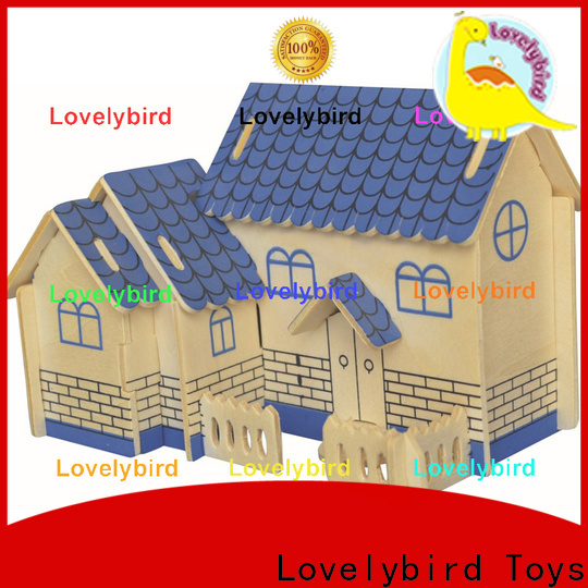 high-quality 3d wooden puzzle house manufacturers for business