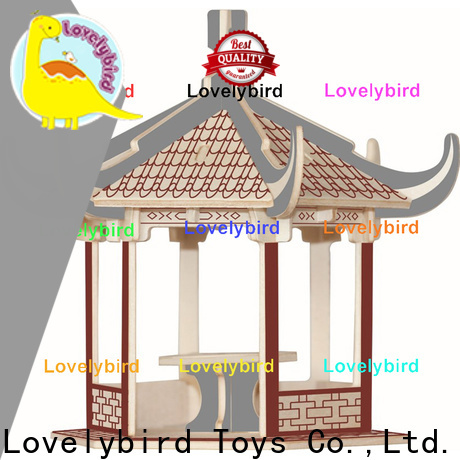 top 3d wooden puzzle house company for kids