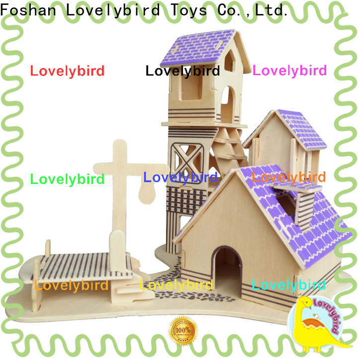 new 3d wooden house puzzles factory for present