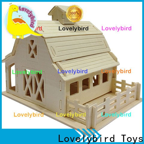 hot sale 3d wooden house puzzles manufacturers for adults