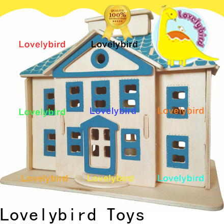 Lovelybird Toys 3d wooden puzzle house suppliers for kids