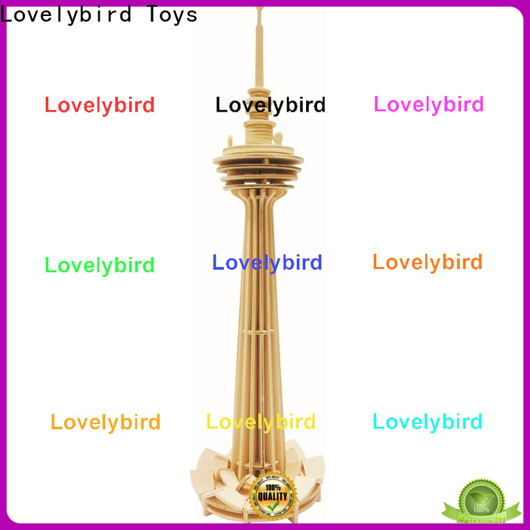 Lovelybird Toys best 3d wooden house puzzles supply for present