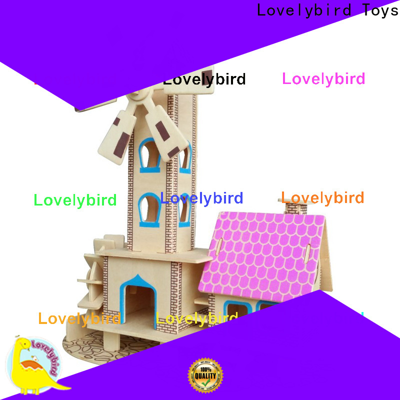 Lovelybird Toys custom 3d wooden puzzle house factory for present