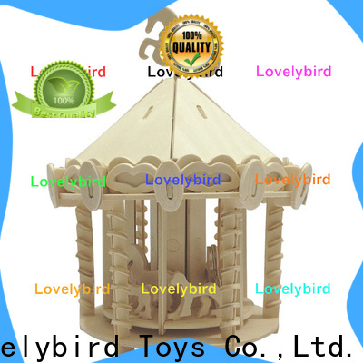 Lovelybird Toys best 3d wooden puzzle house factory for kids