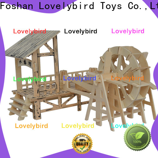 Lovelybird Toys 3d wooden puzzle house factory for business