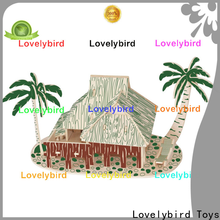 Lovelybird Toys wholesale 3d wooden puzzle house suppliers for kids
