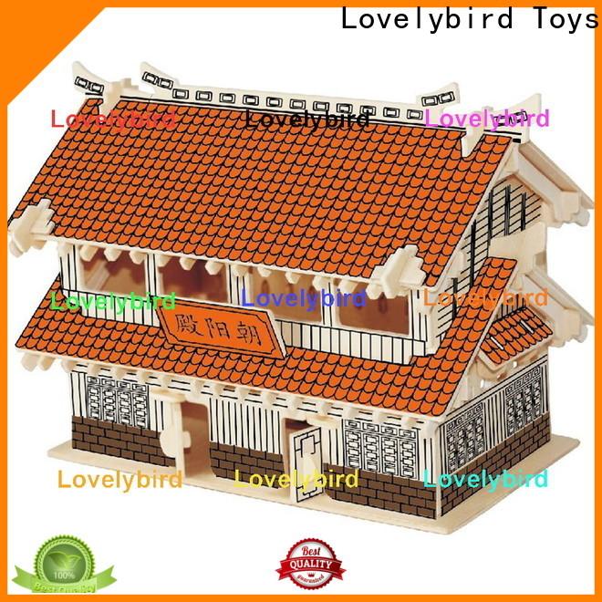 wholesale 3d wooden house puzzles suppliers for sale