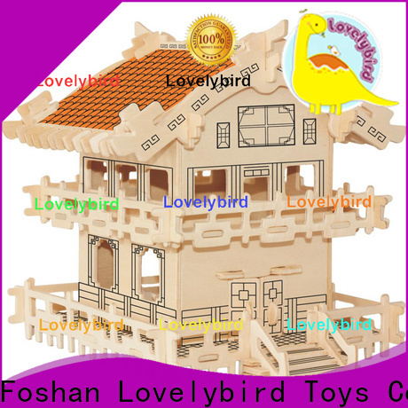 Lovelybird Toys hot sale 3d wooden house puzzles company for sale
