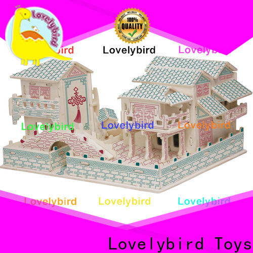 interesting 3d wooden house puzzles company for sale