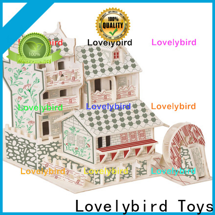 Lovelybird Toys 3d wooden puzzle house manufacturers for sale