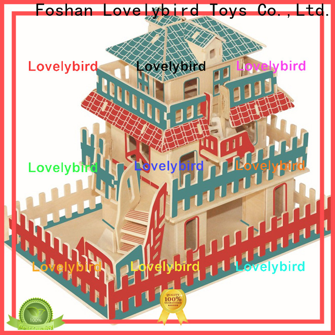 Lovelybird Toys new 3d wooden house puzzles suppliers for adults