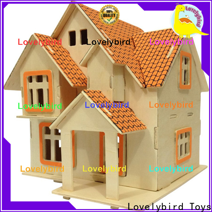 good selling 3d wooden puzzle house factory for business