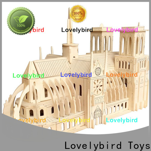 Lovelybird Toys 3d wooden puzzle house supply for present