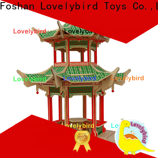 good selling 3d wooden house puzzles supply for present
