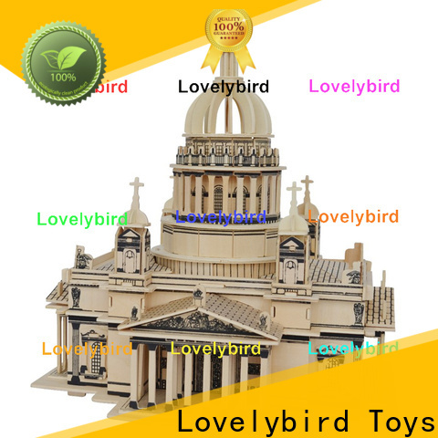 Lovelybird Toys latest 3d wooden house puzzles factory for kids