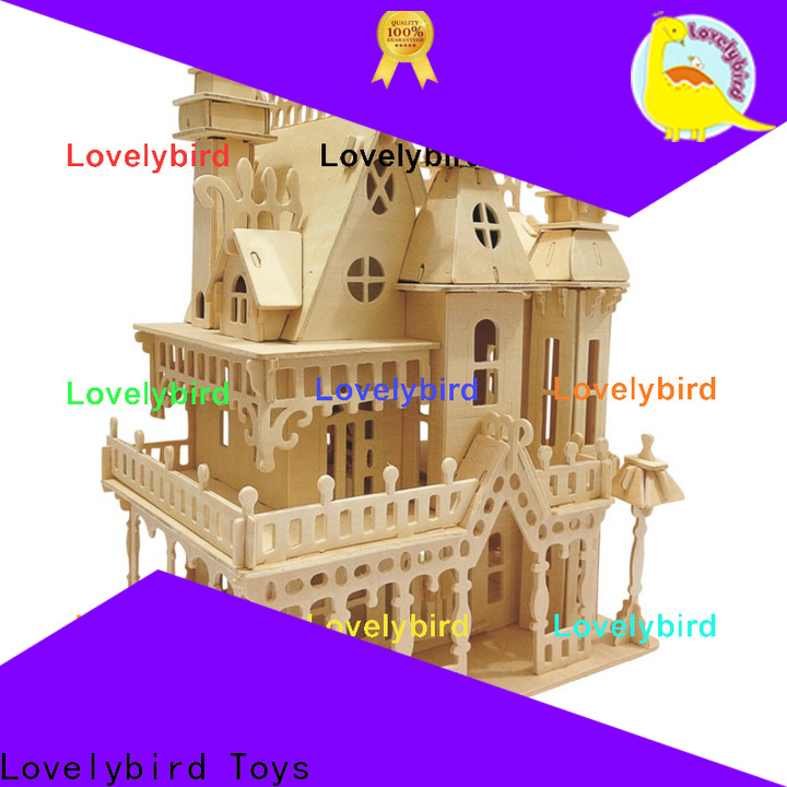 Lovelybird Toys best 3d wooden puzzle house factory for sale
