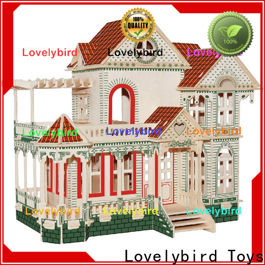 Lovelybird Toys good selling 3d wooden house puzzles supply for business