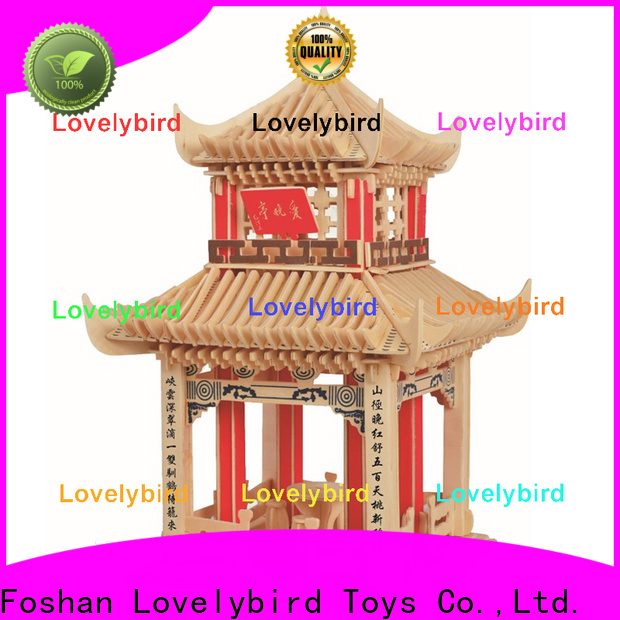Lovelybird Toys 3d wooden house puzzles factory for adults