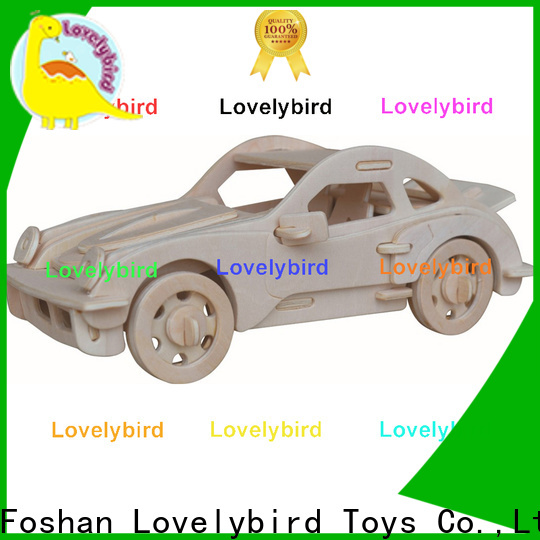 new 3d wooden puzzle car supply for present