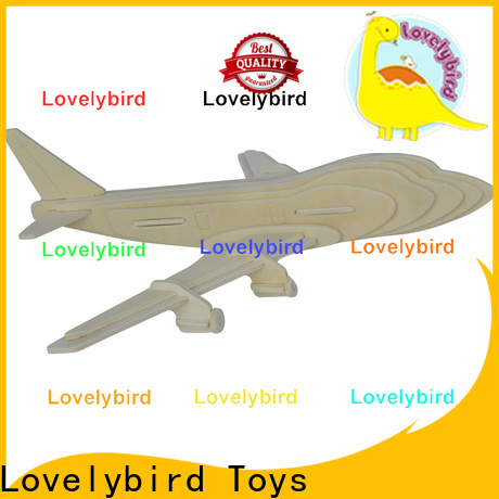 Lovelybird Toys high-quality 3d wooden puzzle car suppliers for present