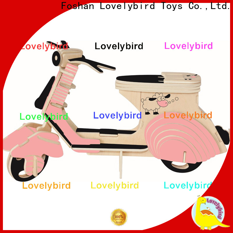 Lovelybird Toys 3d wooden puzzle car suppliers for kids
