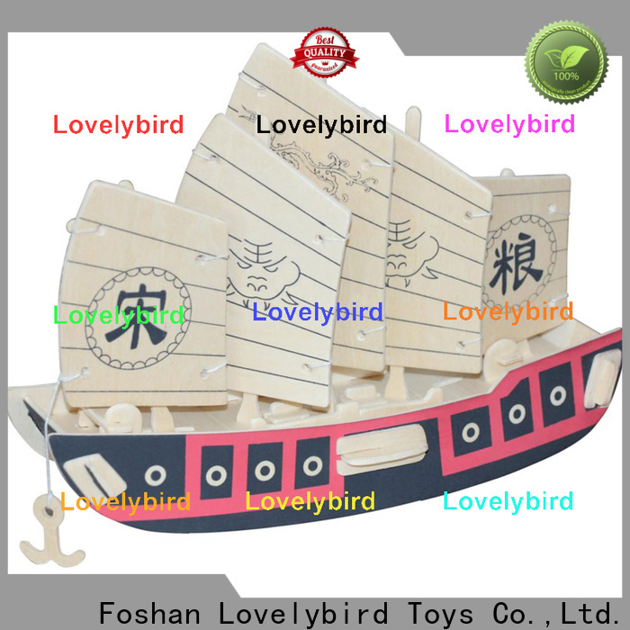 Lovelybird Toys 3d wooden puzzle ship suppliers for business