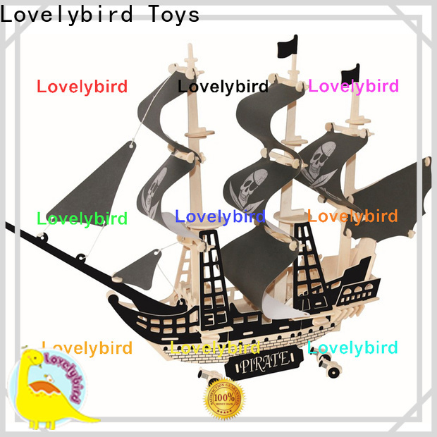 custom 3d wooden puzzle ship suppliers for entertainment