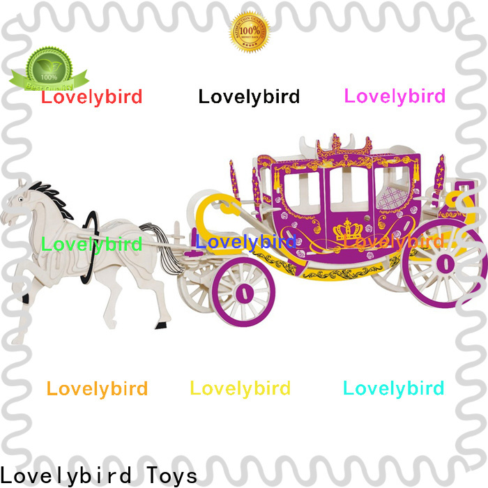 Lovelybird Toys 3d wooden puzzle car manufacturers for sale
