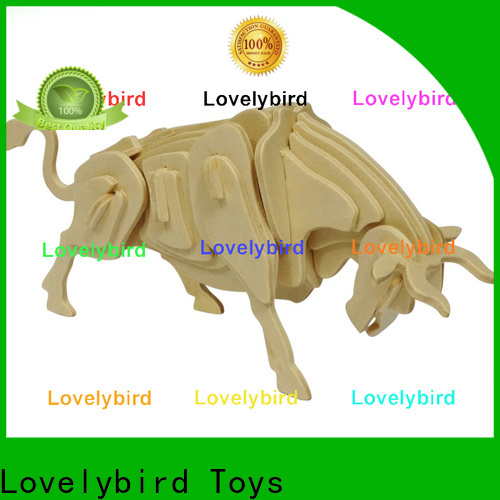 Lovelybird Toys fast delivery wooden 3d animal puzzles supply for present