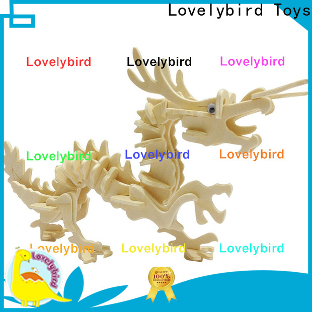 Lovelybird Toys 3d wooden puzzle animals suppliers for adults
