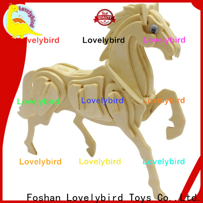 beautiful wooden 3d animal puzzles manufacturers for present