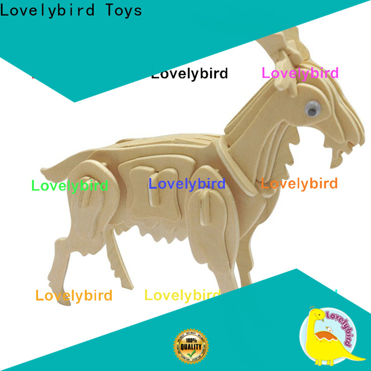Lovelybird Toys 3d wooden animal puzzle suppliers for kids
