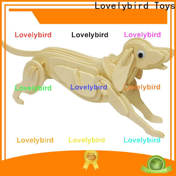 Lovelybird Toys 3d wooden puzzle animals supply for present