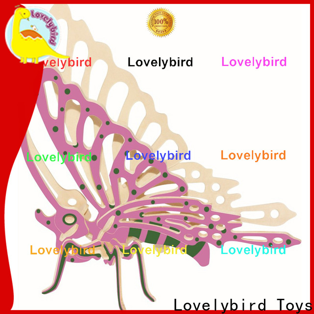 Lovelybird Toys wooden 3d animal puzzles factory for entertainment