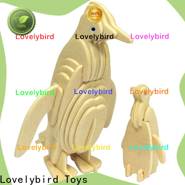 Lovelybird Toys new 3d wooden animal puzzle suppliers for kids