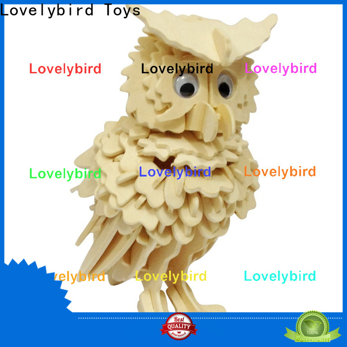 Lovelybird Toys 3d wooden animal puzzle supply for business